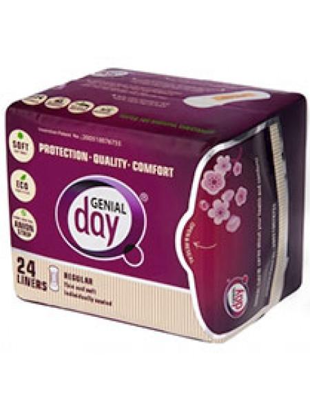 Гигиенические женские ежедневные эко-прокладки с анионовой полоской GENIAL DAY