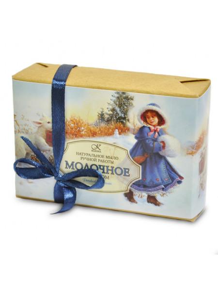 """Подарочное новогоднее мыло """"Молочное"""", 145 г"""