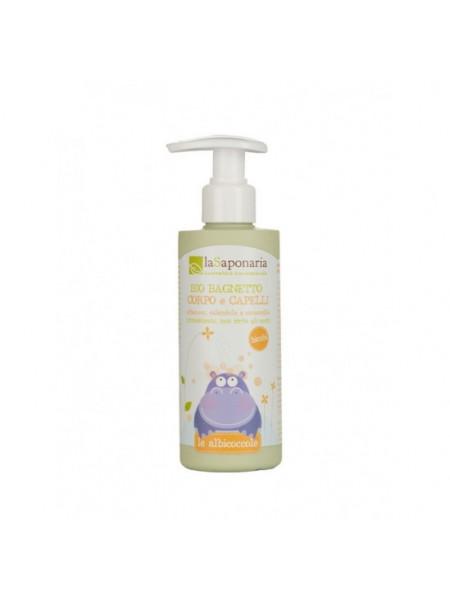 Мягкое органическое средство для купания для тела и волос 200 мл.