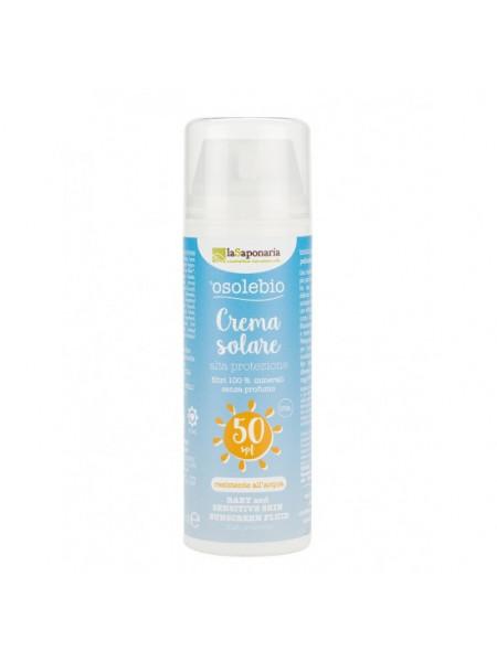 Солнцезащитный крем для чувствительной кожи и детской кожи SPF 50 мл 125 мл.