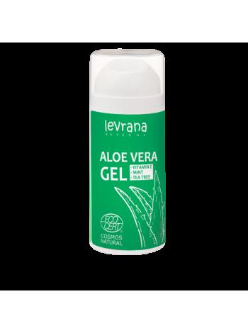 Гель Алоэ Вера LEVRANA Супер увлажнение, снятие воспалений и тонизирование кожи, 100мл