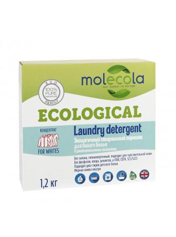Стиральный порошок для белого белья с растительными энзимами, экологичный, 1,2кг