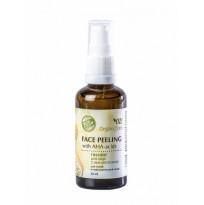 Пилинг для лица с АНА-кислотами для сухой и чувствительной кожи Organic Zone, 50мл