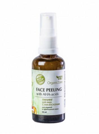 Пилинг для лица с АНА-кислотами для жирной и проблемной кожи Organic Zone, 50мл