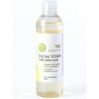 Тоник для лица с АНА-кислотами для жирной и проблемной кожи Organic Zone, 250мл