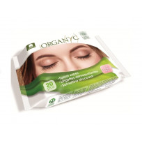 Влажные салфетки для снятия макияжа Organyc, 20шт