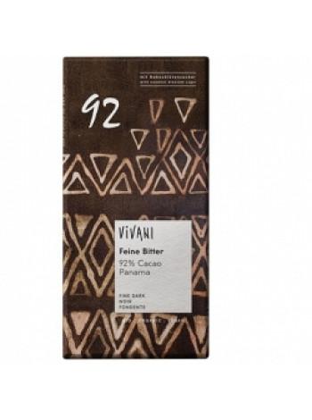 """Vivani Горький шоколад (92% какао) """"Панама"""", 80 гр (подходит для веганов)"""