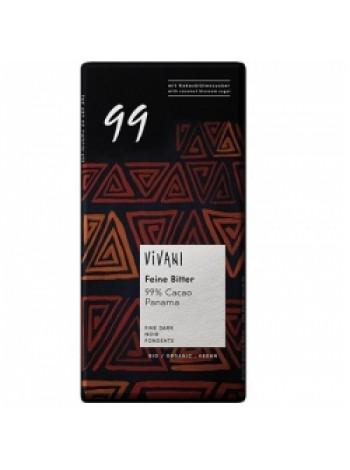 """Vivani Экстра горький шоколад (99% какао) """"Панама"""", 80 гр (подходит для веганов)"""
