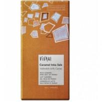"""Vivani Молочный шоколад """"Солёная карамель"""", 80 гр (с розовой морской солью)"""