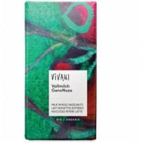 Vivani Молочный шоколад с цельным лесным орехом, 100 г
