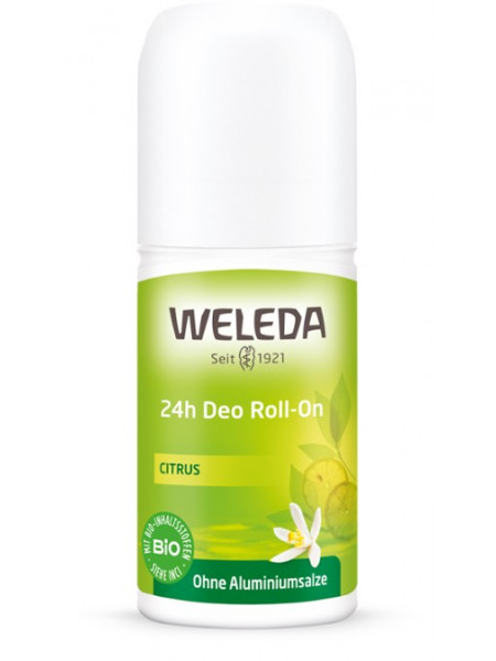 Цитрусовый дезодорант 24 часа Roll-On Weleda, 50 мл