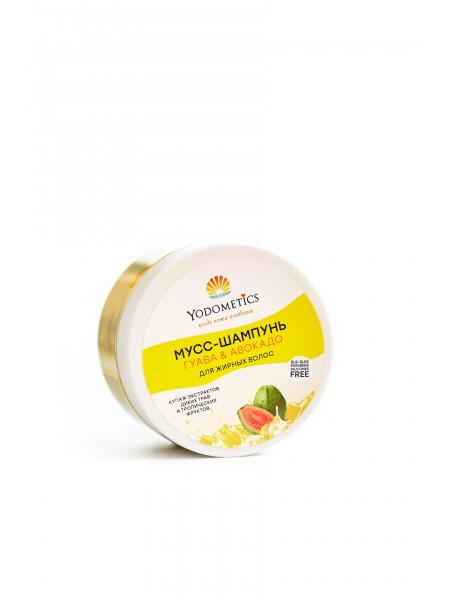Yodometics Мусс-шампунь для жирных волос Гуава и Авокадо, 250 мл